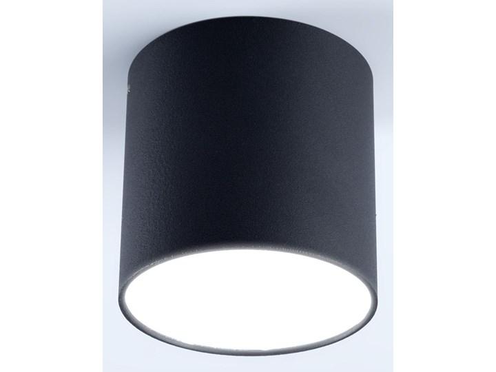 Stylowa Lampa Plafon TUBA POLO B3 Oprawa Czarna na Sufit Zintegrowane Źródło Światła LED Eleganckie Oświetlenie Auhilon