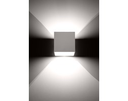 SOLLUX Kwadratowa lampa ścienna kinkiet Quad Biały kostka LED!