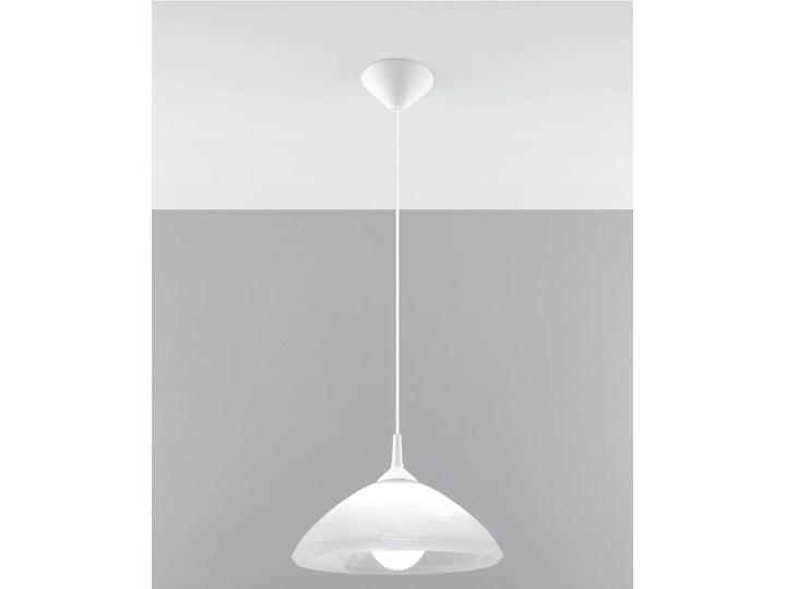 SOLLUX Elegancka i Zgrabna Lampa Wisząca CONO Skromne Oświetlenie Biały Zwis Sufitowy na Lince LED
