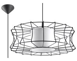 SOLLUX Efektowna Lampa wisząca Zwis SALERNO Czarna Loft Salon LED