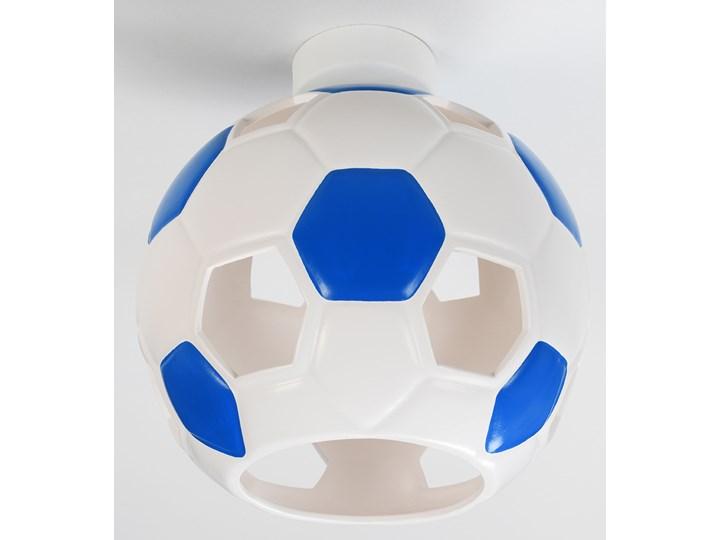 SOLLUX Nowoczesny Dziecięcy Plafon PIŁKA Biało Niebieska Lampa Sufitowa do pokoju dziecięcego Atrakcyjna Oprawa Ceramiczna Żarówka E27 Oświetlenie LED