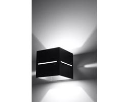 SOLLUX Nowoczesna Lampa Ścienna Aluminiowa Kostka Kinkiet LOBO Czarny