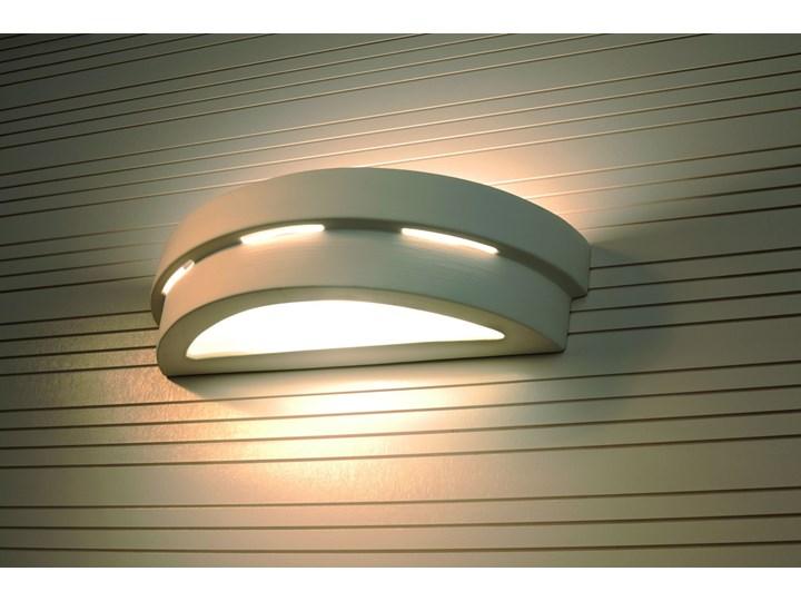 SOLLUX Efektowna lampa ścienna półokrągły kinkiet ceramiczny HELIOS Ceramika Kategoria Lampy ścienne  Szkło Kinkiet łazienkowy Kinkiet dekoracyjny Kinkiet LED Styl Nowoczesny