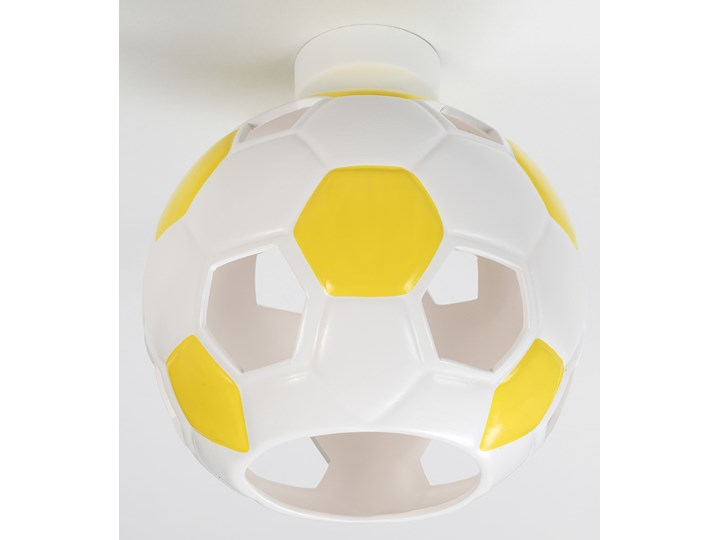 SOLLUX Nowoczesny Dziecięcy Plafon PIŁKA Biało Żółta Lampa Sufitowa do pokoju dziecięcego Atrakcyjna Oprawa Ceramiczna Żarówka E27 Oświetlenie LED Kolor Biały Kolor Żółty