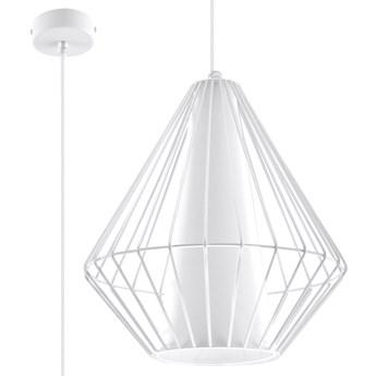 SOLLUX Stylowy Minimalizm! Designerska Lampa wisząca DEMI Biała E27