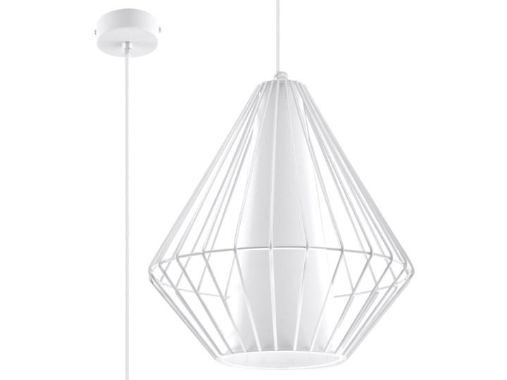 SOLLUX Stylowy Minimalizm! Designerska Lampa wisząca DEMI Biała E27 Metal Lampa z kloszem Stal Kolor Biały Lampa druciana Ilość źródeł światła 1 źródło