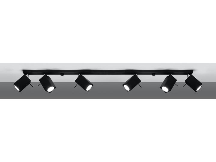 SOLLUX Stylowe Oświetlenie Spot Plafon MERIDA 6L Czarny Lampa Regulowana na Sufit LED