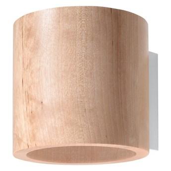 SOLLUX Skandynawski Styl Lampa Na Ścianę Kinkiet ORBIS Drewno