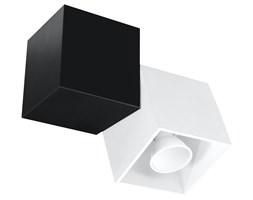 SOLLUX Lampa Kwadraty na Sufit Nowatorski Plafon OPTIK BIANCO 2 Czarny/Biały Stylowe Oświetlenie LED
