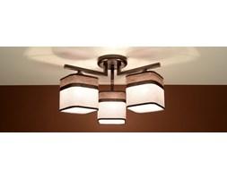 SOLLUX Nowoczesna lampa sufitowa Plafon LATTE 3 Kawa Brąz E27