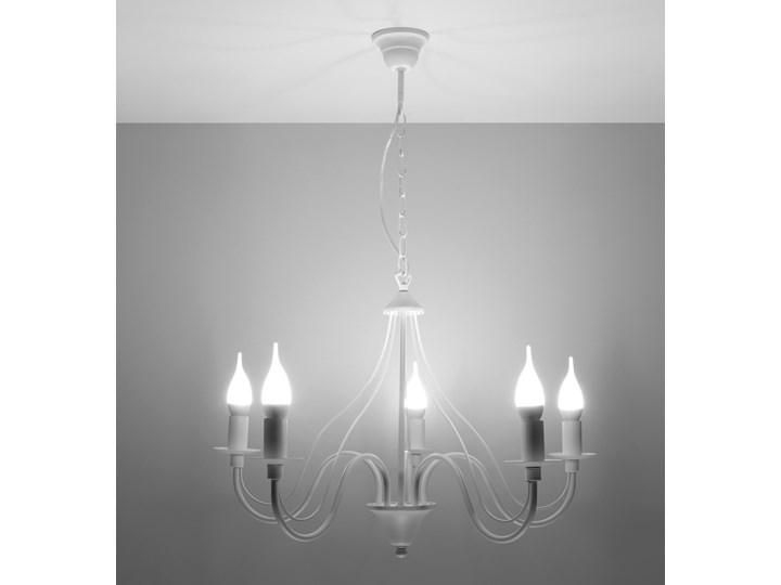 SOLLUX Klasyczna Lampa Wisząca Świece Żyrandol MINERWA 5 Biały Metal Stal Ilość źródeł światła 5 źródeł