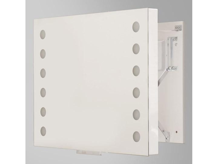 SOLLUX Nowy Design Innowacyjne Oświetlenie Lustro Regulowane ARIA 80 LED System Wysuwny Kwadrat Podświetlany Wzór Kół Idealna Pozycja do Łazienki