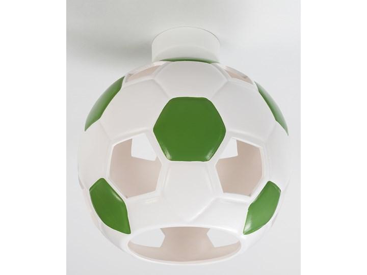 SOLLUX Nowoczesny Dziecięcy Plafon PIŁKA Biało Zielona Lampa Sufitowa do pokoju dziecięcego Atrakcyjna Oprawa Ceramiczna Żarówka E27 Oświetlenie LED