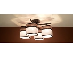 SOLLUX Nowoczesna lampa sufitowa Plafon LATTE 4 Kawa Brąz E27