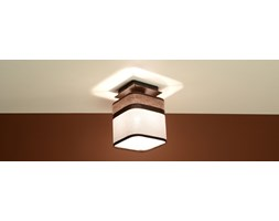 SOLLUX Nowoczesna lampa sufitowa Plafon LATTE 1 Kawa Brąz E27