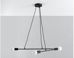 Designerska lampa wisząca ASTRAL 3 czarny Lampa stal na