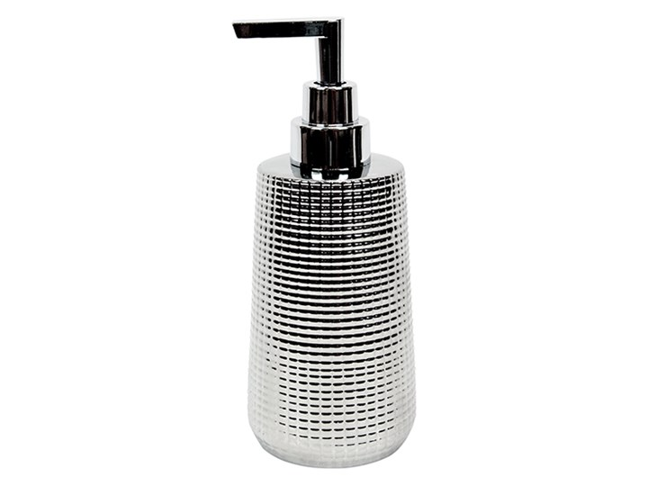 Dozownik do mydła Dallas Plastik Dozowniki Kategoria Mydelniczki i dozowniki Ceramika Kolor Srebrny