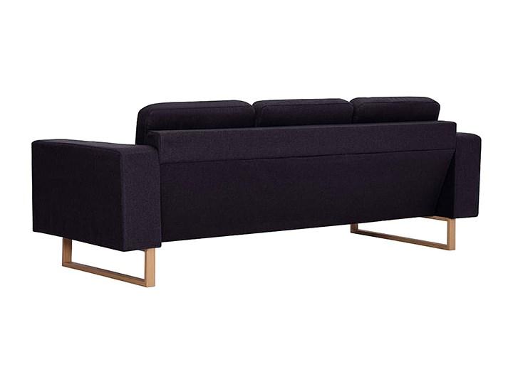 Elegancka trzyosobowa sofa Williams 3X - czarna Stała konstrukcja Szerokość 82 cm Kolor Czarny