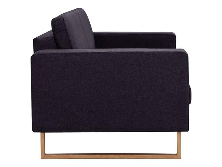 Elegancka trzyosobowa sofa Williams 3X - czarna Stała konstrukcja Kolor Czarny Szerokość 82 cm Kategoria Sofy i kanapy