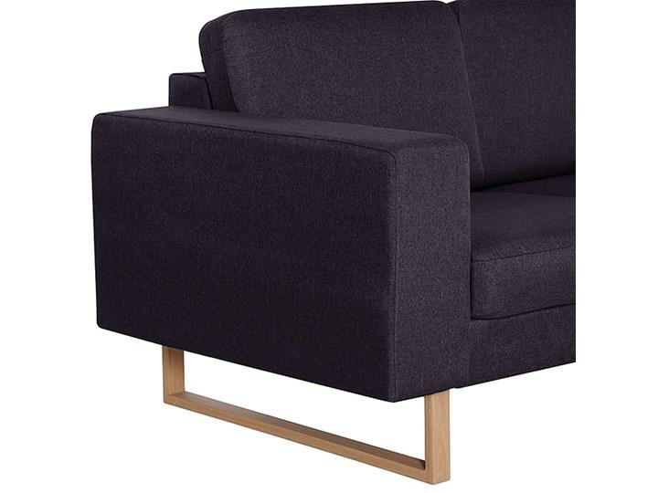 Elegancka trzyosobowa sofa Williams 3X - czarna Stała konstrukcja Szerokość 82 cm Rozkładanie