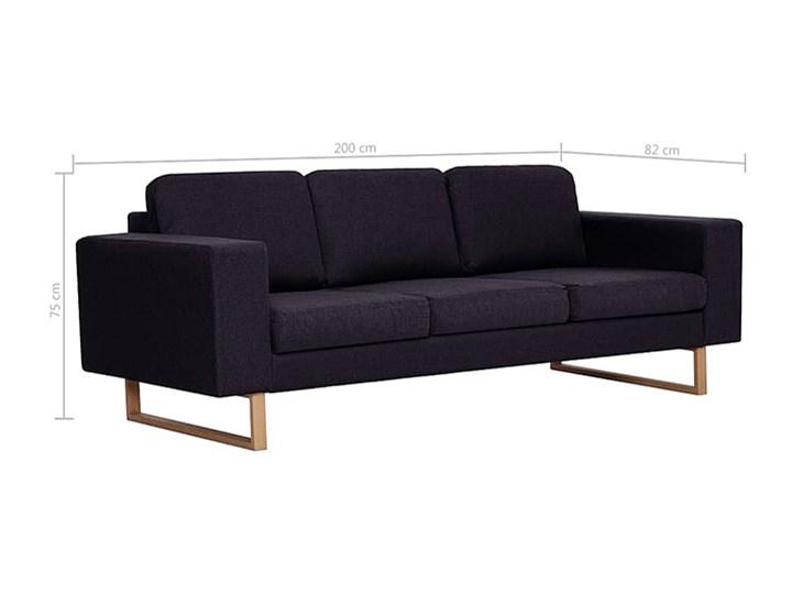 Elegancka trzyosobowa sofa Williams 3X - czarna Styl Nowoczesny Szerokość 82 cm Stała konstrukcja Kolor Czarny