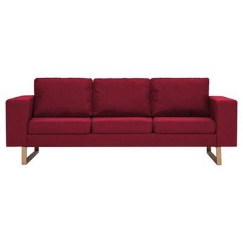 Elegancka trzyosobowa sofa Williams 3x - czerwone wino