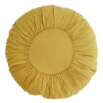 Madam Stoltz - Okrągła lniana poduszka