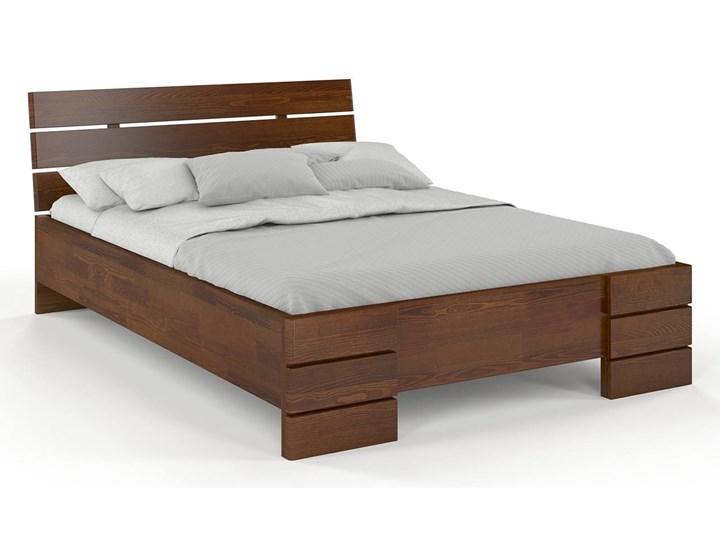 Łóżko drewniane sosnowe Visby Sandemo High Kolor Brązowy