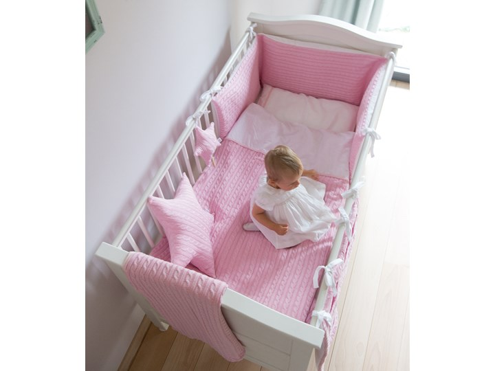 Malmo Pink - poszewka 100x135, 40x60 + ochraniacz