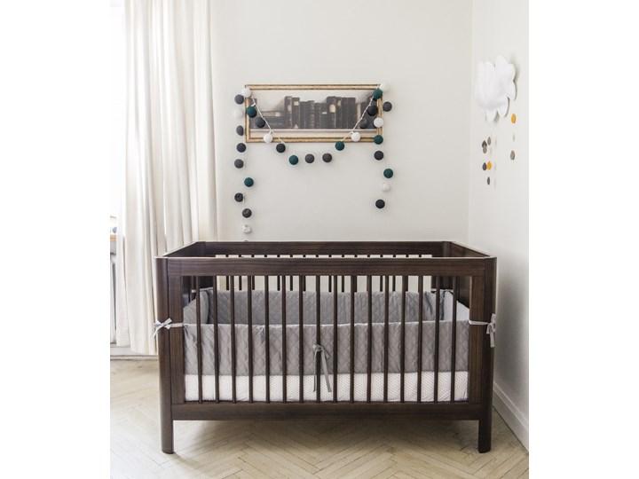 Milky Grey – ochraniacz pikowany na całe łóżeczko 120×60 cm (długość 360 cm)