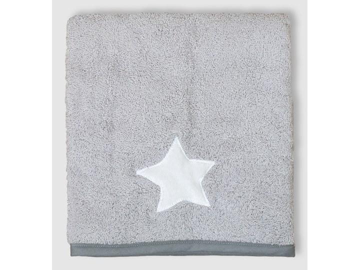 Gwiazda (lamówka szara) – ręcznik kąpielowy 100×60 cm