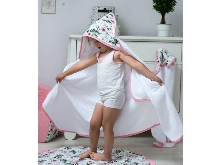 Peonia - duży ręcznik kąpielowy z kapturem 140x70 idealny na basen!