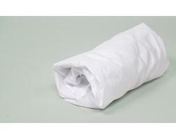 Biały - 200x90 cm prześcieradło z tkaniny
