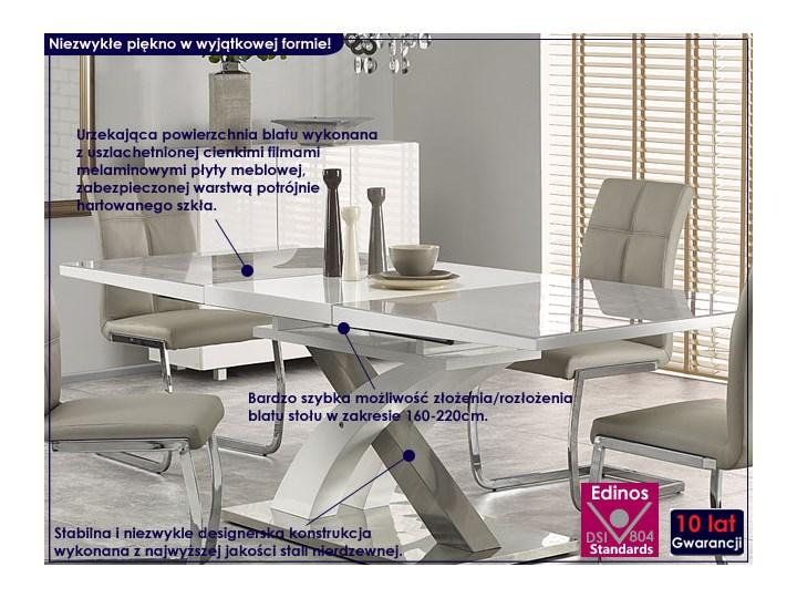 Stół rozkładany Zander - popiel Wysokość 75 cm Rozkładanie Długość 220 cm Szerokość 90 cm Kategoria Stoły kuchenne