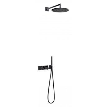 Tres Study Exclusive zestaw prysznicowy z baterią termostatyczną czarny 20735201TNE