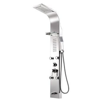 Srebrny matowy panel prysznicowy EVE