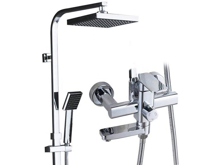 Srebrny chrom zestaw prysznicowy deszczownica Wyposażenie Z słuchawką