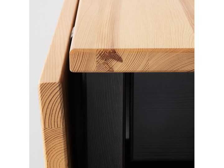 ARKELSTORP Stolik kawowy Wysokość 52 cm Drewno Kolor Beżowy Kolor Czarny