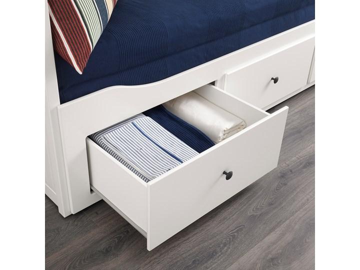 HEMNES Leżanka z 3 szufladami, 2 materace Kolor Biały Podwójne Rozmiar materaca 80x200 cm