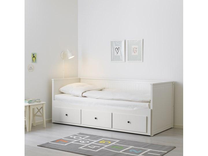 HEMNES Leżanka z 3 szufladami, 2 materace Podwójne Rozmiar materaca 80x200 cm