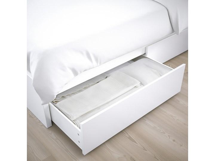 MALM Rama łóżka z 2 pojemnikami Kolor Biały Łóżko drewniane Kategoria Łóżka do sypialni