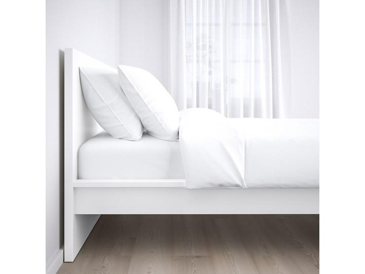 IKEA MALM Rama łóżka, wysoka, Biały, 140x200 cm Łóżko drewniane Kolor Szary Kategoria Łóżka do sypialni