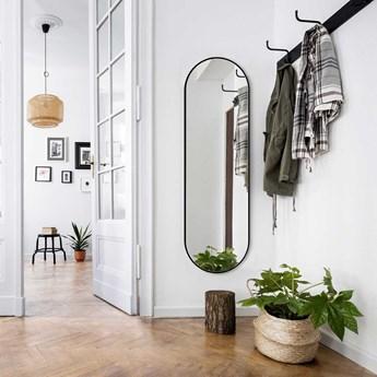 Lustro Ambient Slim czarne  – owalne do korytarza