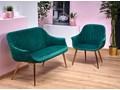 fotel w stylu glamour karins 3x - zielony
