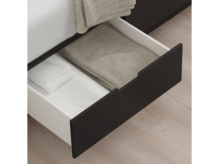NORDLI Rama łóżka z szufladami Łóżko drewniane Kolor Czarny Kategoria Łóżka do sypialni