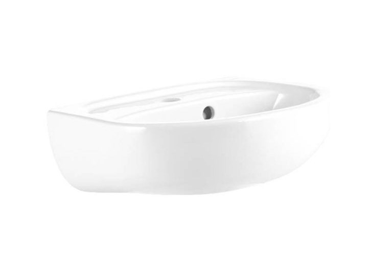 Umywalka ścienna ceramiczna Koło Solo 40 x 33 cm biała z otworem na armaturę Podwieszane Kolor Biały Szerokość 40 cm Ceramika Półokrągłe Kategoria Umywalki