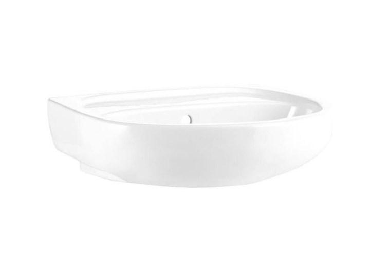 Umywalka ścienna ceramiczna Koło Solo 50 x 42 cm biała bez otworu na armaturę Podwieszane Szkło Ceramika Półokrągłe Szerokość 50 cm Kolor Biały