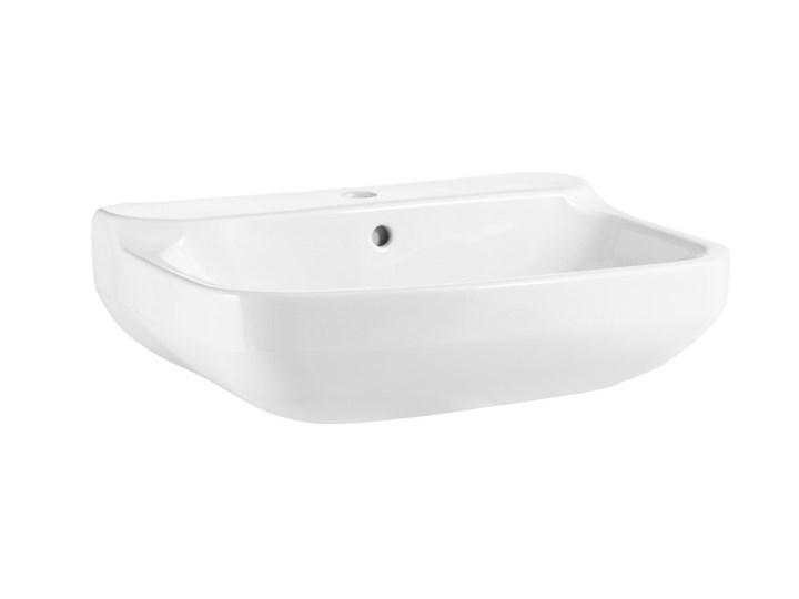 Umywalka ścienna GoodHome Teesta 40 x 56 cm z otworem na armaturę Prostokątne Szerokość 40 cm Podwieszane Kategoria Umywalki