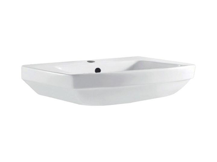 Umywalka ścienna GoodHome Zapia 59,5 x 44 cm z otworem na armaturę Podwieszane Ceramika Szerokość 59 cm Prostokątne Szerokość 60 cm Kategoria Umywalki