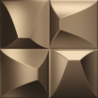 Ena Brozne 25x25 płytka dekoracyjna ścienna kolor brązowy
